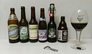 sechs verschiedene Bierstile beim Biertasting